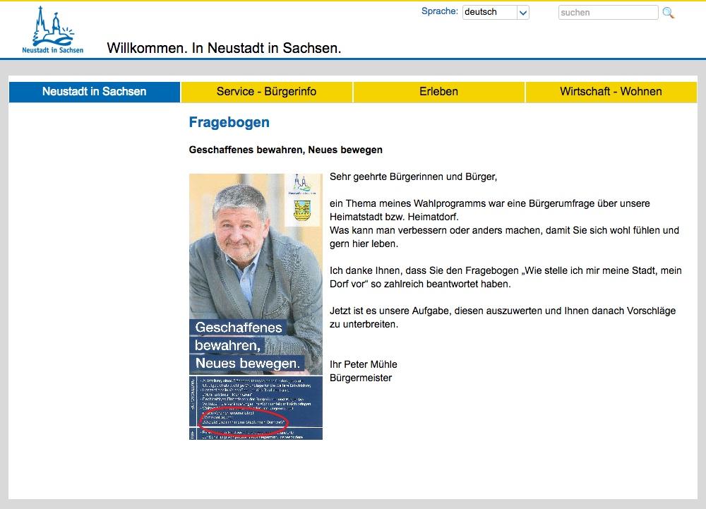 Peter Mühle , Bürgermeister Neustadt i Sachsen