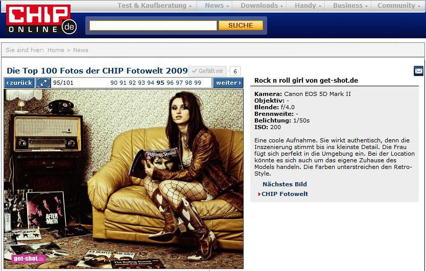 get-shot.de bei den 100 besten Jahresbildern von Chip