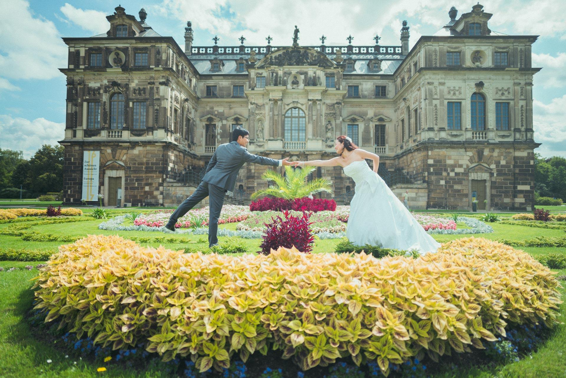 Hochzeitsfotograf Dresden - Grosser Garten Hochzeitsfotografie