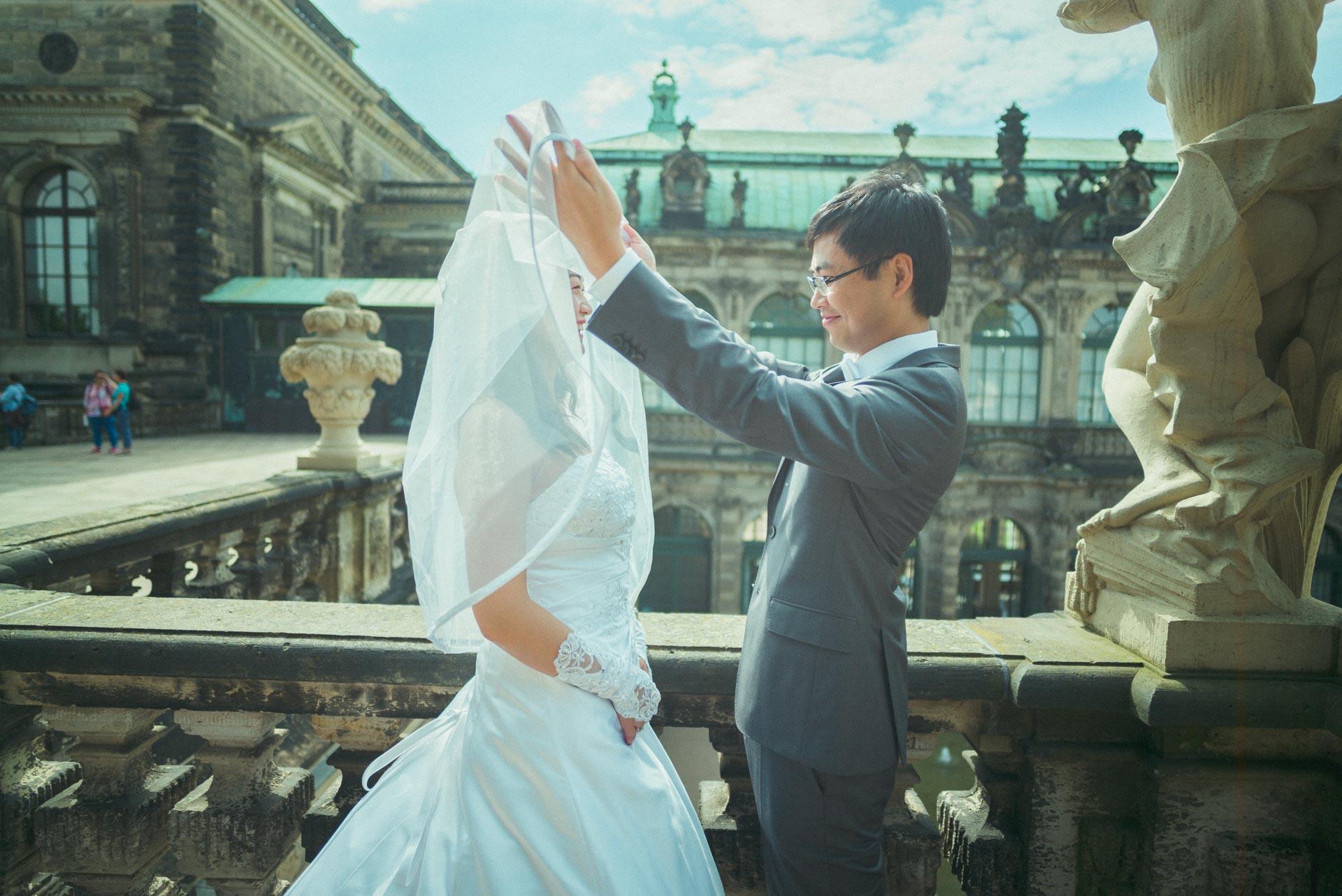 Hochzeitsfotograf Dresden - Zwinger Hochzeitsfotografie