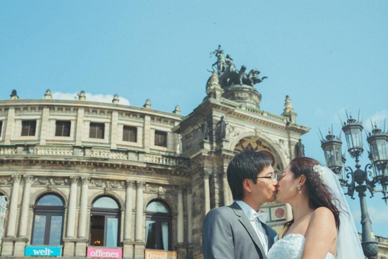 Hochzeitsfotograf Dresden - Semperoper