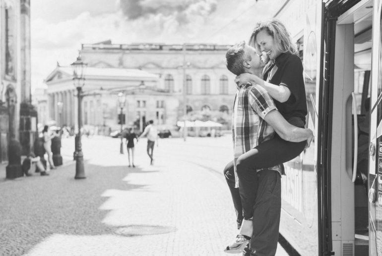 Verliebt in Dresden - Paar Fotoshooting Dresden