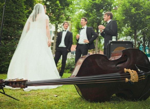 Hochzeitsfotografie Jazzband