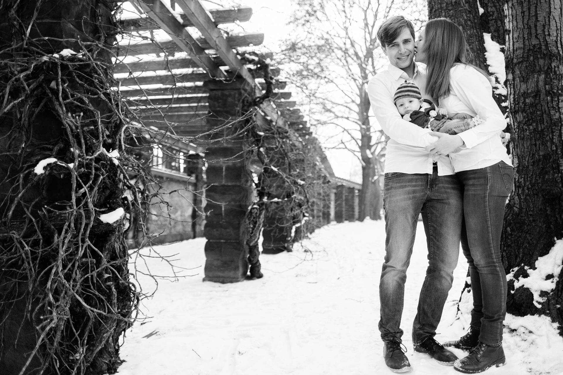 Babyfotos im Winter Dresden
