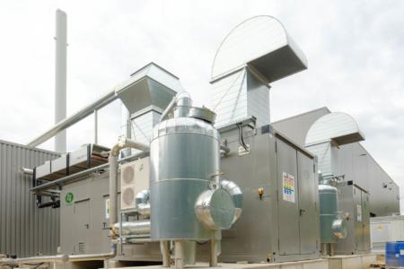 Anlagenfotografie Biogas Dresden MVV Biogas Dresden ehemals Kompotec / Eggersmann
